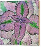 Plant Pattern - Photopower 1212 Wood Print