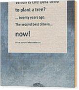Plant Trees Wood Print