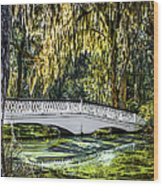 Plantation Bridge Wood Print