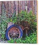 Planted Wheel Wood Print