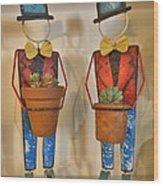 Planter Buddies Wood Print