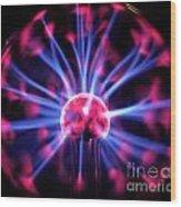 Plasma Ball Wood Print