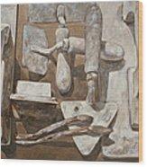 Plasterer's Tools 2 Wood Print