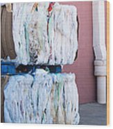 Plastic Bags To Be Recycled Wood Print