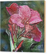 Plastic Wrapped Pink Flower By Diana Sainz Wood Print