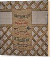 Platapus Jute Bags Wood Print