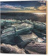Plate Ice Brighton Beach Duluth Wood Print