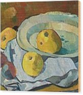 Plate Of Apples Wood Print by Paul Serusier