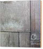 Plated Metal Texture Wood Print