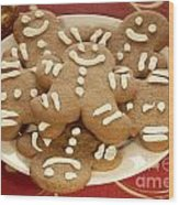 Plateful Of Gingerbread Cookies Wood Print by Juli Scalzi