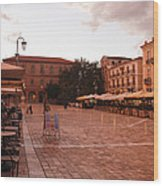 Plateia Syntagmatos Wood Print