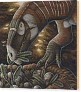 Plateosaurus Dinosaur Nest Wood Print
