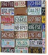 Plates Wood Print