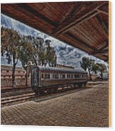 platform view of the first railway station of Tel Aviv Wood Print