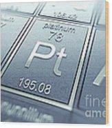 Platinum Chemical Element Wood Print