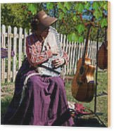 Play A Song For Me Wood Print