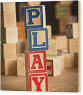Play - Alphabet Blocks Wood Print