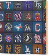 Play Ball Recycled Vintage Baseball Team Logo License Plate Art Wood Print