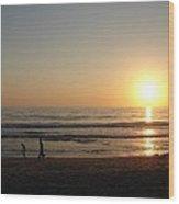 Play On California Beach Wood Print