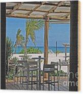 Playa Blanca Restaurant Bar Area Punta Cana Dominican Republic Wood Print