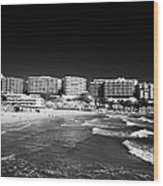 Playa Cappellans And Salou Waterfront Properties On The Costa Dorada Catalonia Spain Wood Print