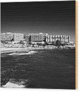 Playa De Cappellans And Salou Waterfront Properties On The Costa Dorada Catalonia Spain Wood Print