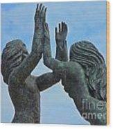 Playa Del Carmen Statue Wood Print