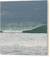 Playa Hermosa Wave Number Two Central Pacific Coast Costa Rica Wood Print
