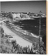 Playa Llarga And Cap De Salou Waterfront Properties On The Costa Dorada Catalonia Spain Wood Print