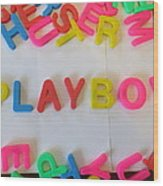 Playboy - Magnetic Letters Wood Print