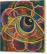 Playful Spirit Eye Wood Print