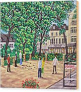 Playing Boules At Betty's Cafe- Harrogate Wood Print