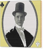 Playing Card Of Actor And Director Romain Fielding Unknown Date-2008 Wood Print