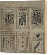 Playing Cards Patent Wood Print