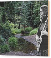 Playing For The Creek Wood Print