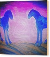The Horses Were Playing The Blues Whole Night  Wood Print