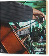 Playing The Cello  Wood Print