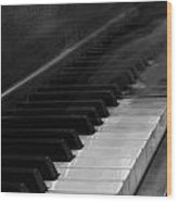 Playing The Piano Wood Print
