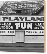 Playland At The Beach Wood Print
