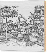 Plaza Wood Print