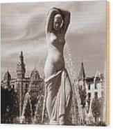 Plaza Cataluna Wood Print