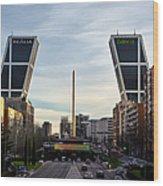 Plaza De Castilla Wood Print
