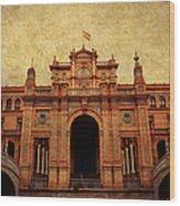 Plaza De Espana 1. Seville Wood Print
