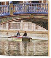 Plaza De Espana Rowboats Wood Print
