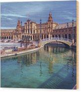 Plaza De Espana Seville II Wood Print