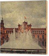 Plaza De Espana. Seville Wood Print