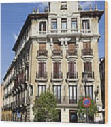 Plaza De Ramales Tenement House Wood Print