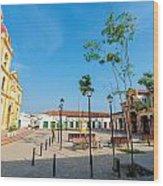 Plaza In Mompox Wood Print