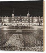 Plaza Mayor After Midnight Wood Print