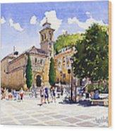 Plaza Nueva Wood Print